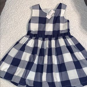 Blue & White Gingham Dress for Toddlers 💗